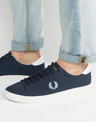 Fred Perry Spencer Canvas Trainers Navy