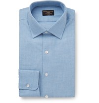Emma Willis Light Blue Cotton And Cashmere Blend Shirt