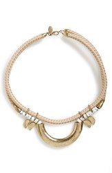 Women's Berry Rope Statement Necklace Tan