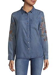 Saks Fifth Avenue Cameron Denim Button Down Shirt Mood