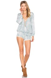 Tiare Hawaii Kalani Lace Up Romper Gray