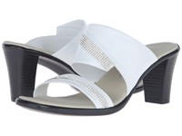 Onex Avery White Clear Stones Women's Sandals