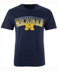 Colosseum Men's Michigan Wolverines Gradient Arch T Shirt Navy