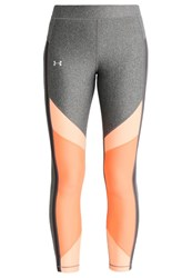 Under Armour Tights Charcoal London Orange Metallic Silver Black