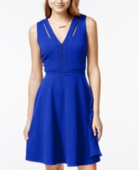 Xoxo Juniors' Cutout Zipper Front Fit And Flare Dress