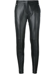 Versus Leather Leggings Black