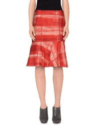 Marella Skirts Knee Length Skirts Women Brick Red
