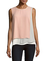 Bcbgmaxazria Sleeveless Layered Top Shadow Blush