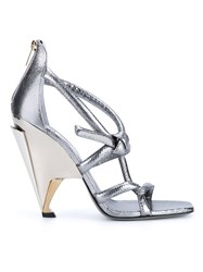 Jimmy Choo Metallic Kissy Wedge Sandals
