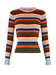 House Of Holland Striped Merino Wool Blend Sweater Multi