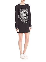 Opening Ceremony Graphic Cotton T Shirt Dress Black
