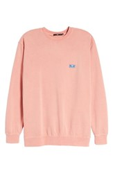 Obey Flashback Pigment Dyed Sweatshirt Dusty Coral