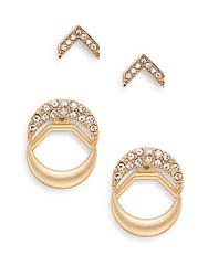 Natasha 2 Piece Crystal Earring Set Gold