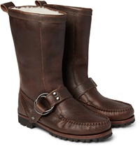 Quoddy Meddybemps Shearling Lined Pebble Grain Leather Boots