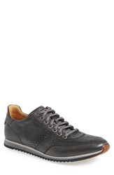 Magnanni Men's 'Cristian' Sneaker Grey Leather