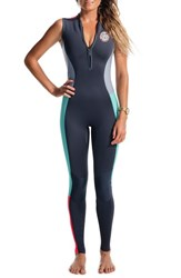 Women's Rip Curl 'G Bomb Long Jane' Sleeveless Wetsuit Grey
