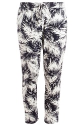 Splendid Palm Print Trousers