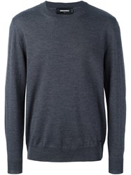 Dsquared2 Side Zip Knitted Jumper Grey