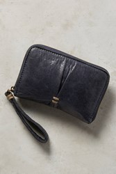 Anthropologie Navy Pleated Wallet