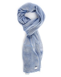 Billtornade Mottled Sky Blue Cotton Linen Scarf