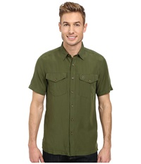 Fj Llr Ven Abisko Vent Short Sleeve Shirt Pine Green Men's Short Sleeve Button Up