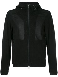 Emporio Armani Perforated Hooded Jacket Blue