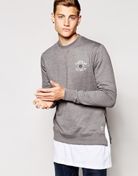 Firetrap Side Zip Sweater Grey