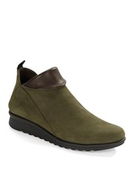 The Flexx Pan Damme Leather Ankle Boots Loden Green