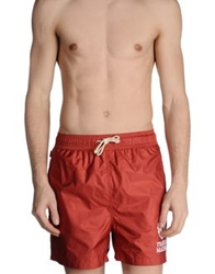 Franklin And Marshall Swimming Trunks Red