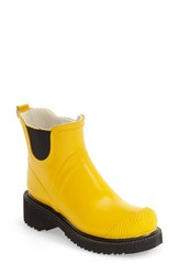 Ilse Jacobsen Women's Hornbaek 'Rub 47' Short Waterproof Rain Boot Cyber Yellow