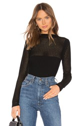 Bailey 44 Mesh Together Top Black