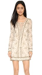 Free People Sicily Beaded Shift Dress Ivory