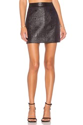 Milly Jacquard Modern Mini Skirt Black