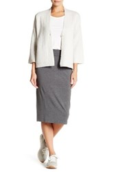 Eileen Fisher Foldover Skirt Petite Gray