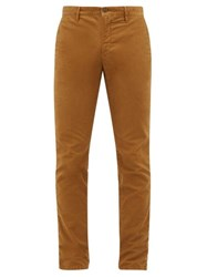 Incotex Slim Fit Cotton Blend Chino Trousers Beige