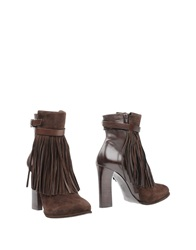 Hoss Intropia Ankle Boots Dark Brown