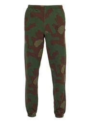 Off White Stencil Camouflage Print Cotton Track Pants Camouflage