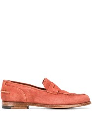 Alberto Fasciani Classic Loafers Orange