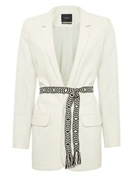 Maison Scotch Boyfriend Blazer Off White Melange