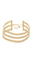 Vanessa Mooney The Harmony Choker Necklace Gold