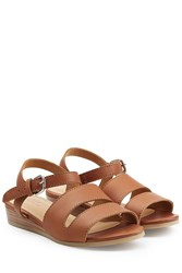 A.P.C. Leather Sandals Brown