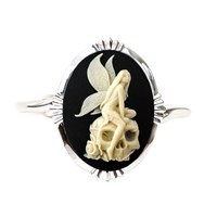 Couture By Lolita Angel Fairy Skull Cameo Cuff Bracelet