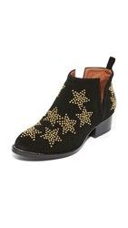 Jeffrey Campbell Starman Studded Booties Black Gold