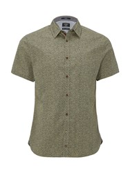 White Stuff Men's Outing Floral Short Sleeve Shirt Green