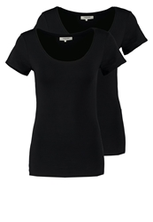 Zalando Essentials 2 Pack Basic Tshirt Black Black
