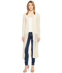 Lucky Brand Duster Cardigan Sweater Natural Women's Sweater Beige