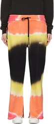 Off White Multicolor Tie Dye Split Lounge Pants