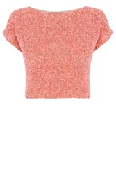 Coast Sleeved Emb Bliss Top Coral