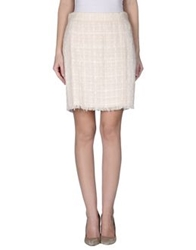 Dandg D And G Knee Length Skirts Ivory