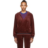 Opening Ceremony Red Velour Wrap Hoodie